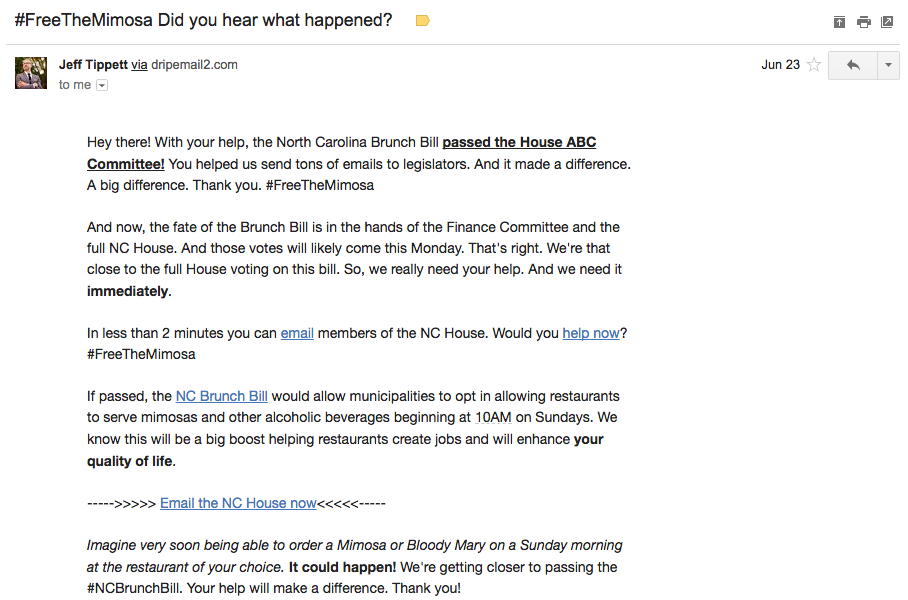 call to action email example